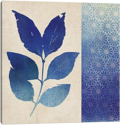 Indigo Leaves I Canvas Art Print
