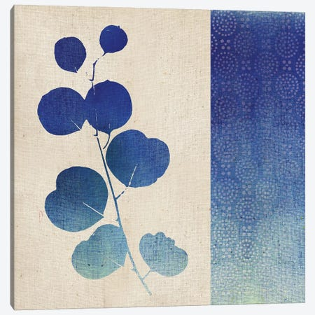 Indigo Leaves II Canvas Print #WAC5056} by Studio Mousseau Canvas Wall Art