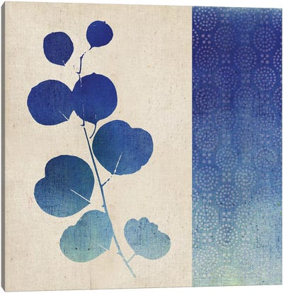 Indigo Leaves II Canvas Art Print