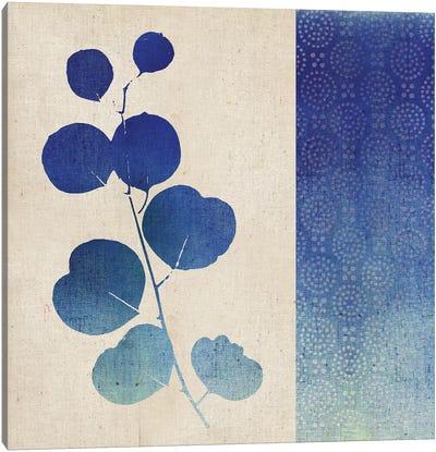 Indigo Leaves II Canvas Art Print