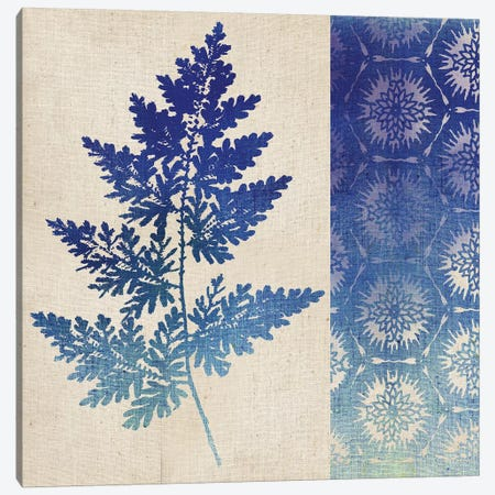 Indigo Leaves III Canvas Print #WAC5057} by Studio Mousseau Canvas Wall Art