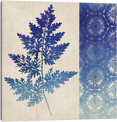 Indigo Leaves III Canvas Art Print