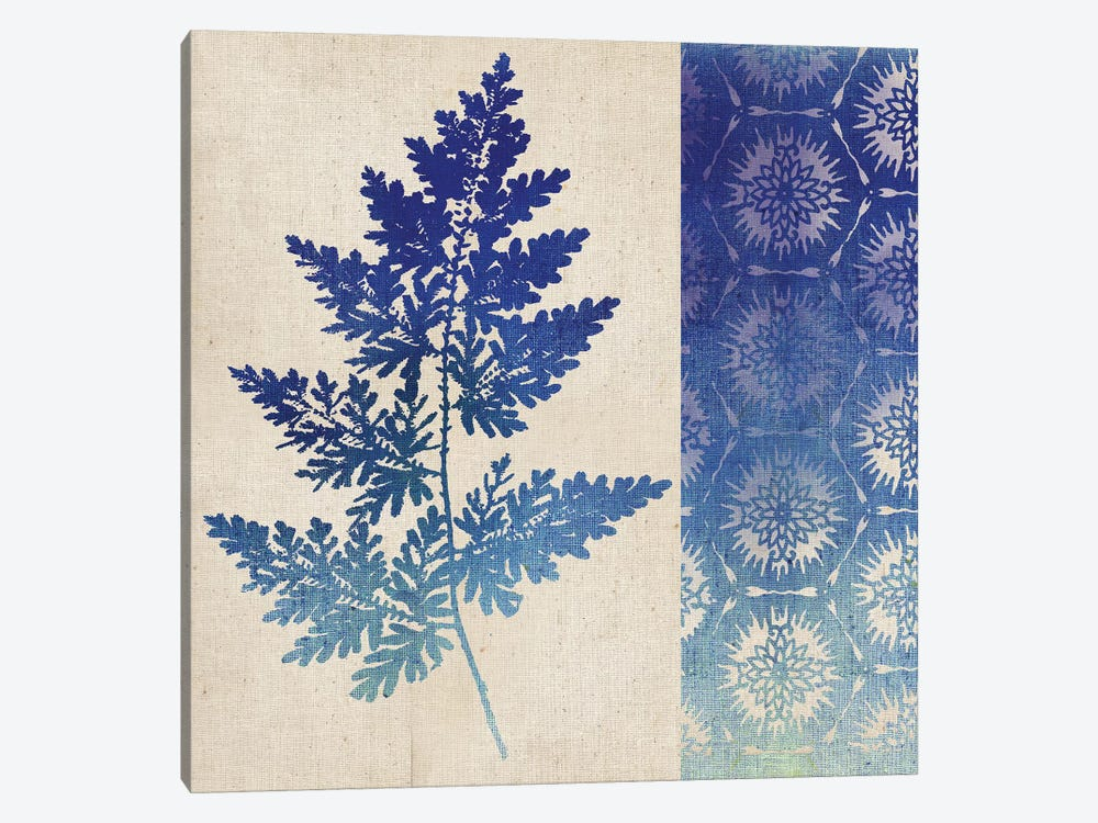 Indigo Leaves III by Studio Mousseau 1-piece Canvas Wall Art