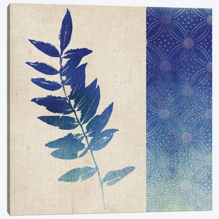 Indigo Leaves IV Canvas Print #WAC5058} by Studio Mousseau Art Print