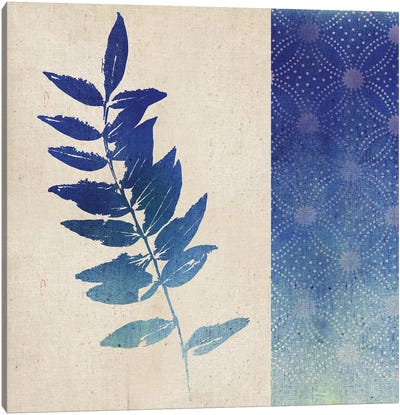 Indigo Leaves IV Canvas Art Print