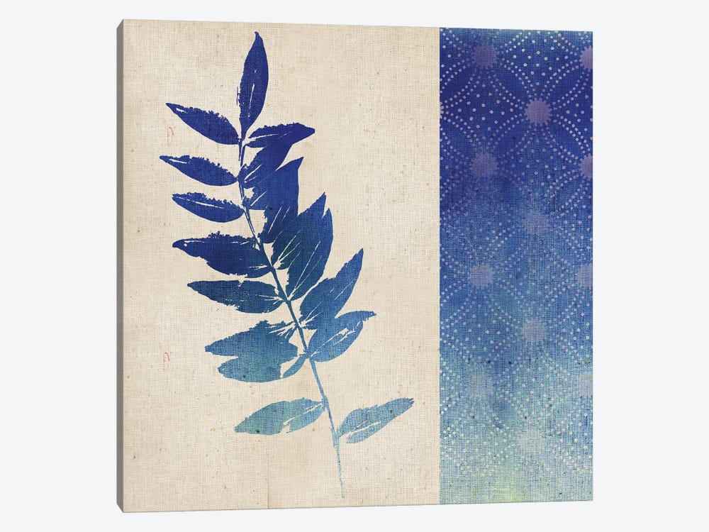 Indigo Leaves IV by Studio Mousseau 1-piece Canvas Art Print
