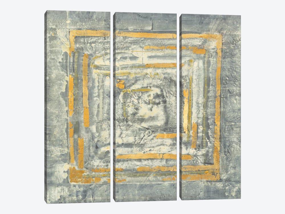 Detail Of Center, Gold Tapestry I by Albena Hristova 3-piece Canvas Art Print