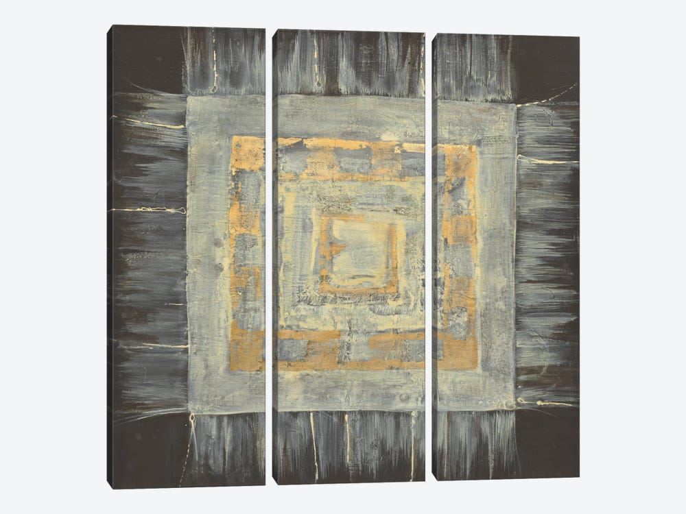 Gold Tapestry II by Albena Hristova 3-piece Canvas Print