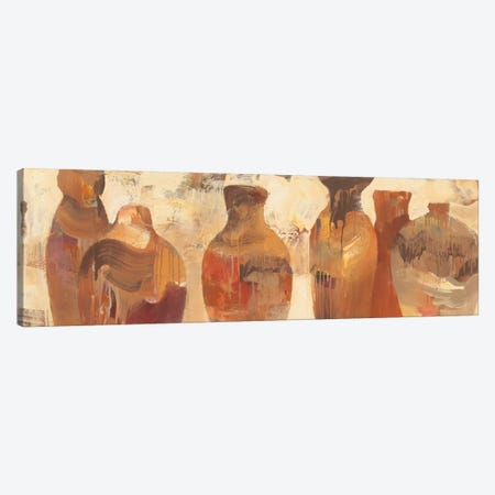 Southwestern Vessels 3-Piece Canvas #WAC5082} by Albena Hristova Canvas Wall Art