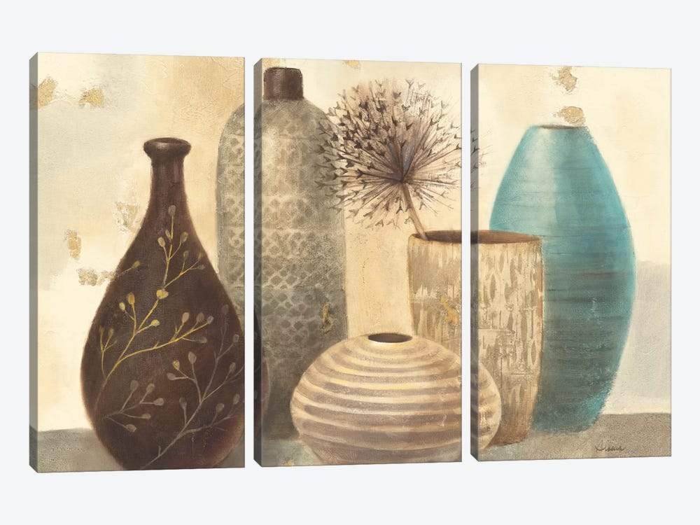 Vessel Still Life II by Albena Hristova 3-piece Canvas Artwork