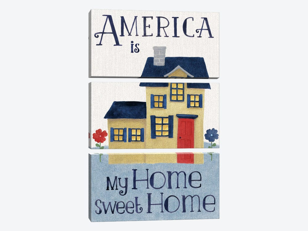 America Is My Home Sweet Home by Beth Grove 3-piece Art Print