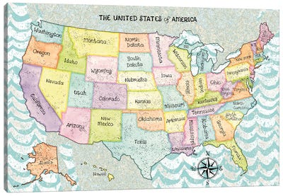 The United States Of America Canvas Art Print