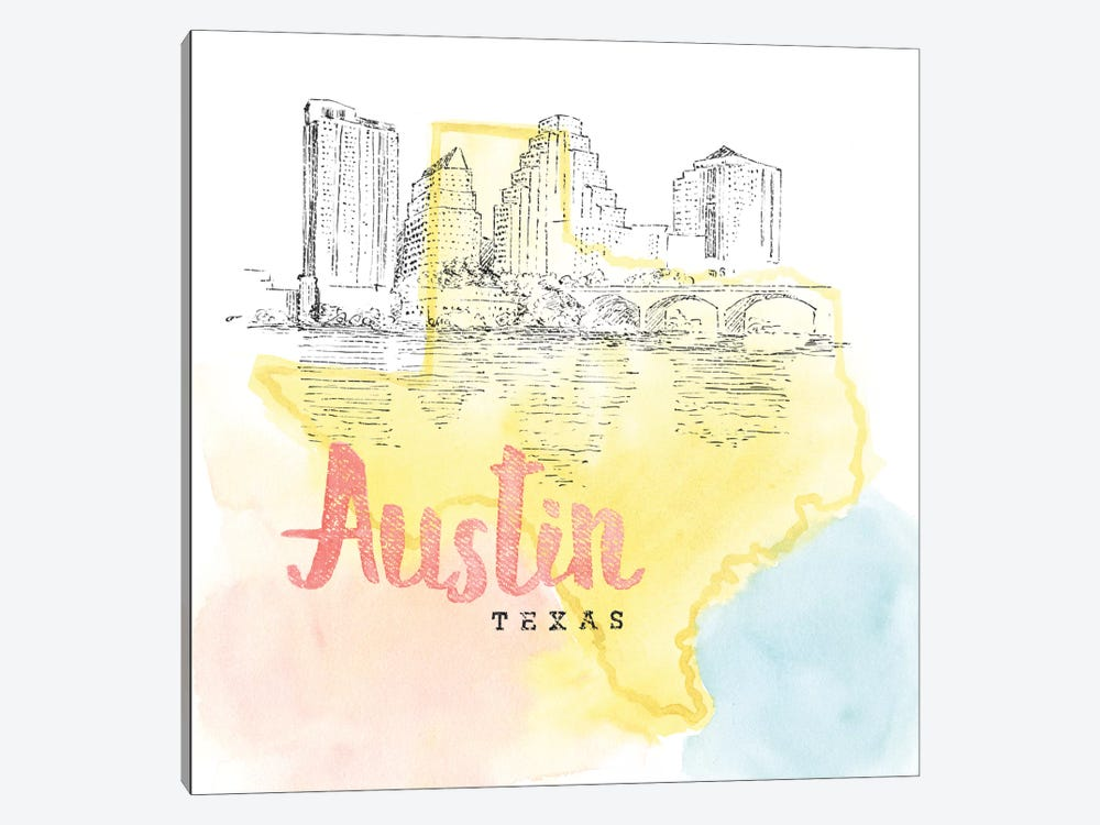 US Cities Series: Austin, Texas by Beth Grove 1-piece Canvas Wall Art