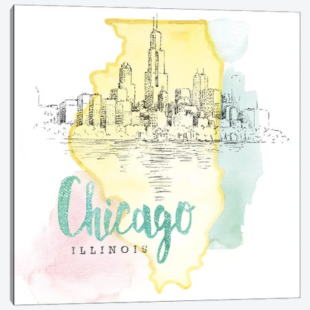 Chicago, Illinois Canvas Print #WAC5101} by Beth Grove Canvas Print