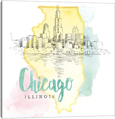 US Cities Series: Chicago, Illinois Canvas Print #WAC5101