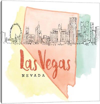 US Cities Series: Las Vegas, Nevada Canvas Print #WAC5103
