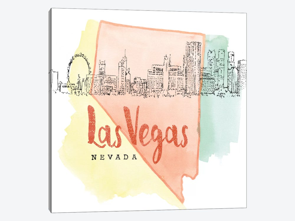 Las Vegas, Nevada by Beth Grove 1-piece Canvas Art