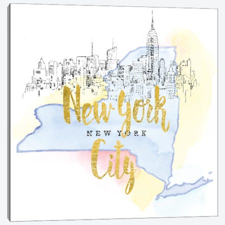 New York City, New York Canvas Print #WAC5105} by Beth Grove Canvas Wall Art