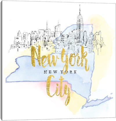 New York City, New York Canvas Art Print