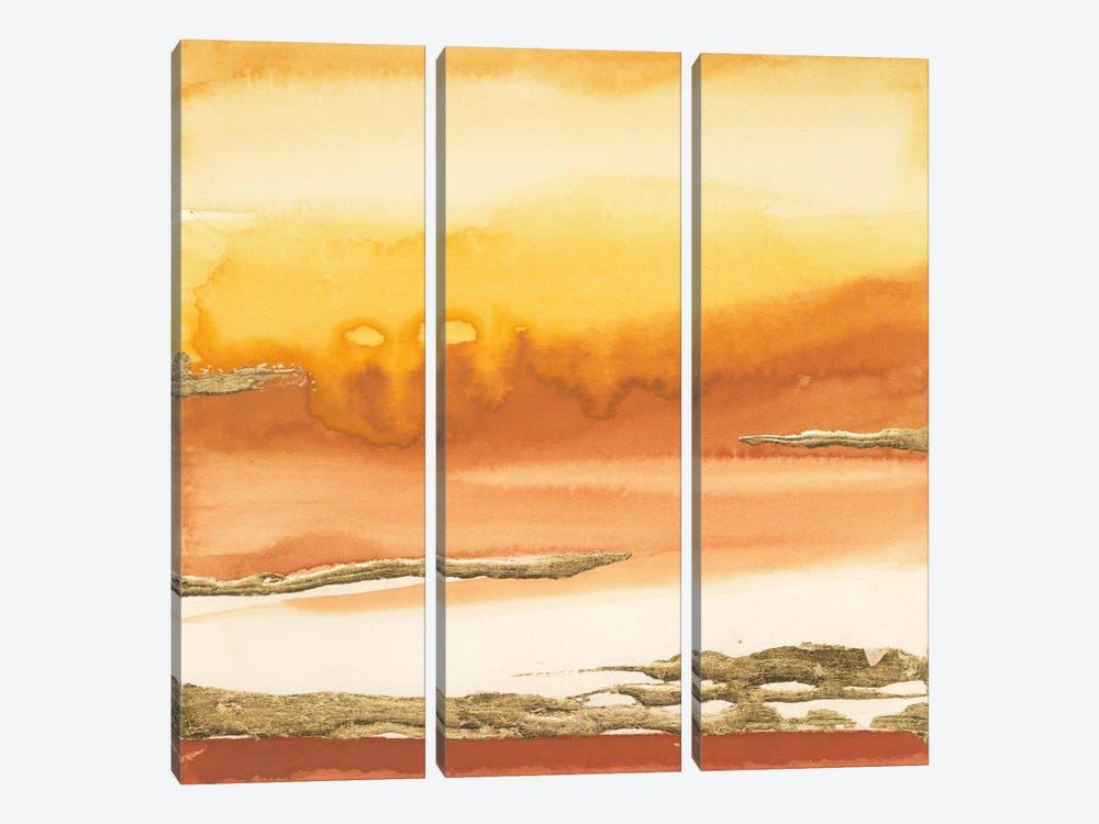 Gilded Amber I by Chris Paschke 3-piece Canvas Wall Art
