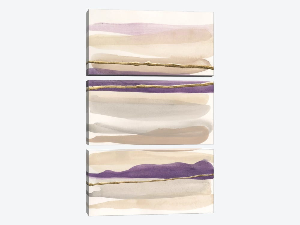 Gilded Amethyst II by Chris Paschke 3-piece Canvas Artwork