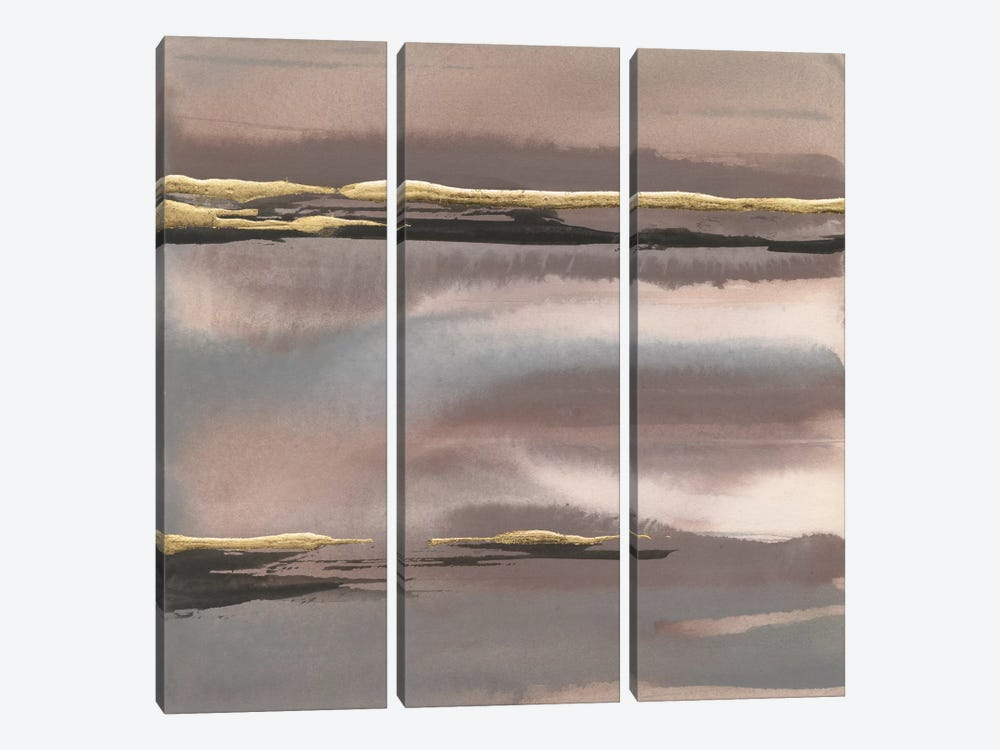 Gilded Morning Fog I by Chris Paschke 3-piece Canvas Artwork
