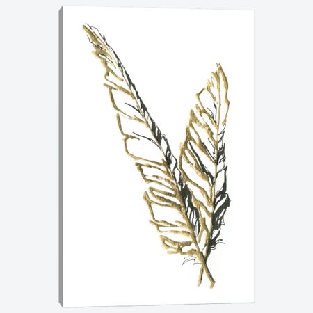 Gilded Raven Feather Canvas Print #WAC5120} by Chris Paschke Art Print