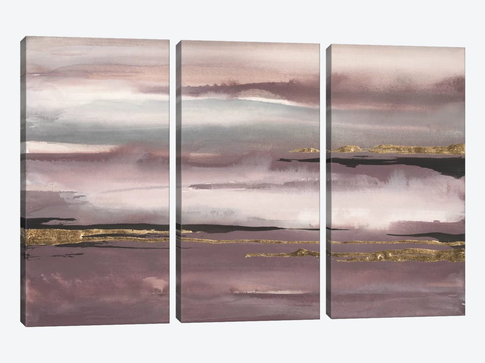 Gilded Storm I by Chris Paschke 3-piece Canvas Artwork