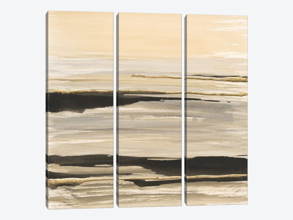 Gilded Surf by Chris Paschke 3-piece Canvas Art