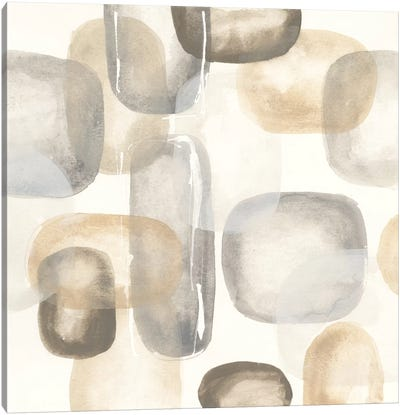 Neutral Stones II Canvas Art Print