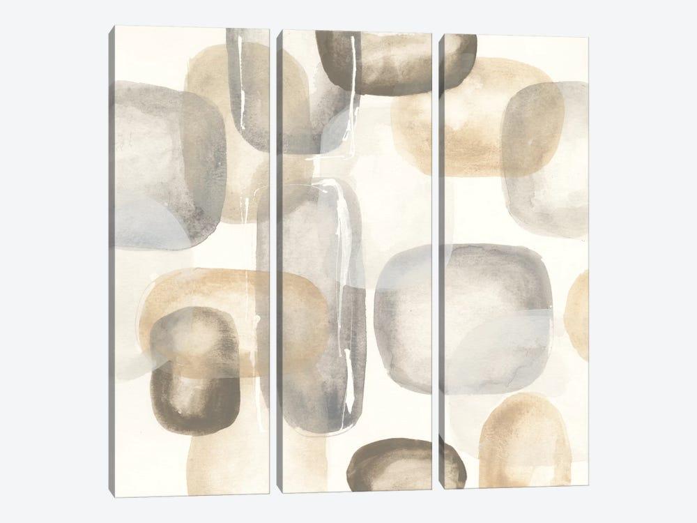 Neutral Stones II by Chris Paschke 3-piece Canvas Art