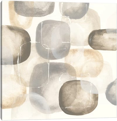 Neutral Stones III Canvas Art Print