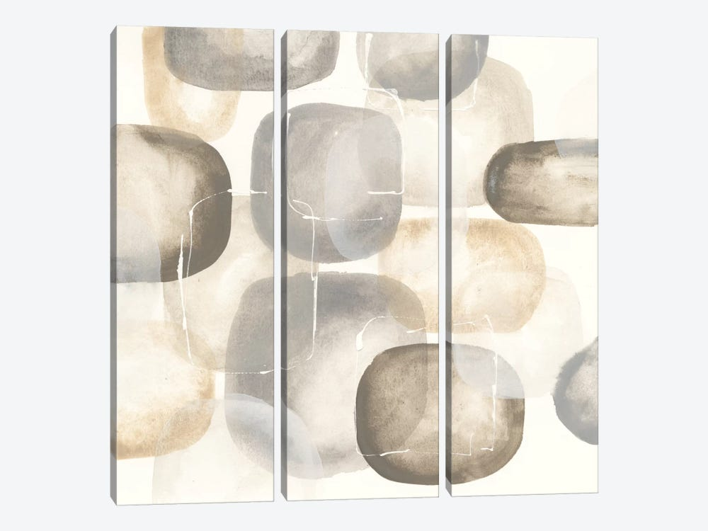 Neutral Stones III by Chris Paschke 3-piece Canvas Print