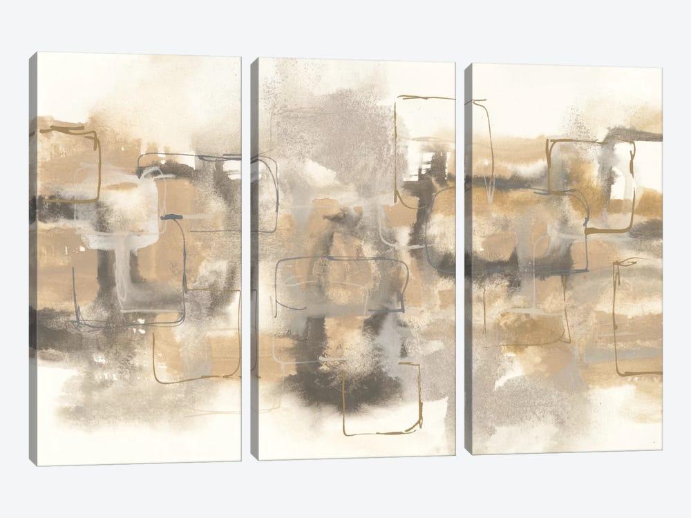 Platinum Neutrals II by Chris Paschke 3-piece Canvas Art Print