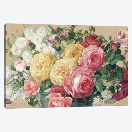 Antique Roses In Zoom Canvas Print #WAC5136} by Danhui Nai Canvas Art Print