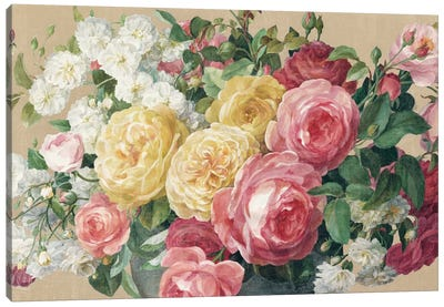 Antique Roses In Zoom Canvas Art Print