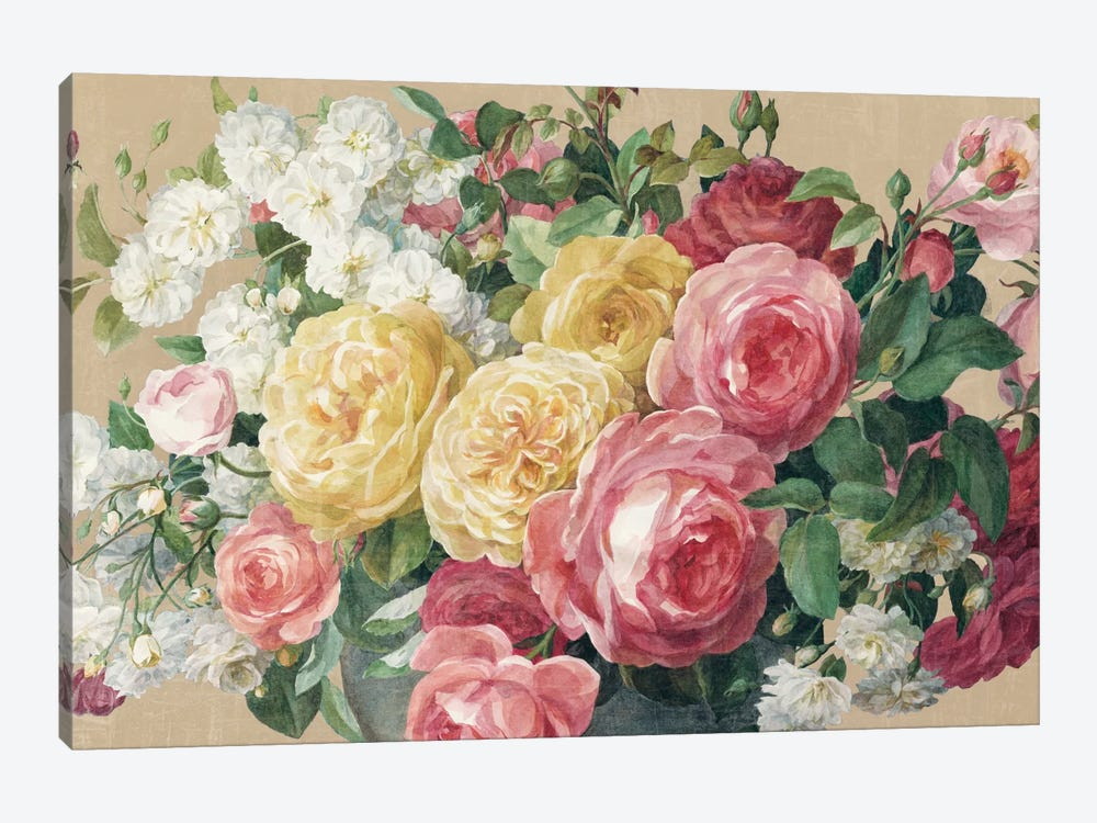 Antique Roses In Zoom by Danhui Nai 1-piece Canvas Wall Art