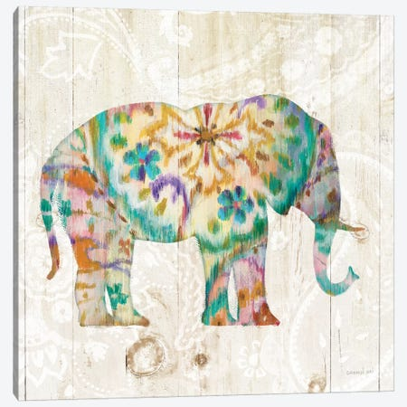 Boho Paisley Elephant I Canvas Print #WAC5137} by Danhui Nai Canvas Print
