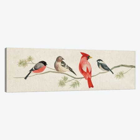 Festive Birds Panel I Canvas Print #WAC5141} by Danhui Nai Art Print