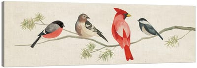 Festive Birds Panel I Canvas Art Print