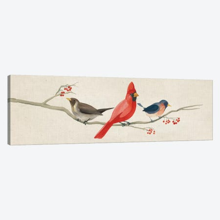 Festive Birds Panel II Canvas Print #WAC5142} by Danhui Nai Canvas Print