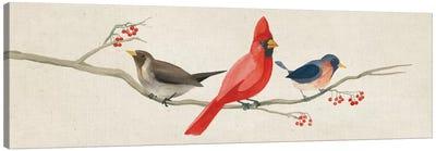 Festive Birds Panel II Canvas Print #WAC5142