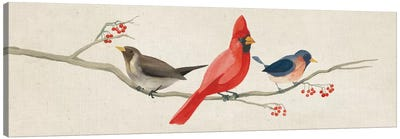 Festive Birds Panel II Canvas Art Print