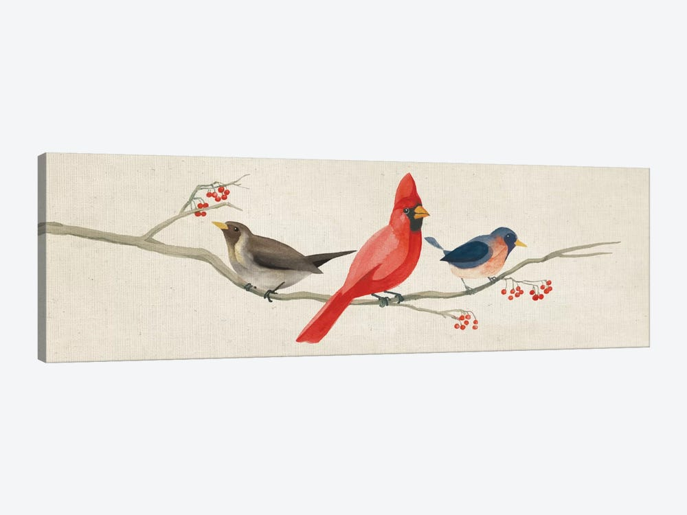 Festive Birds Panel II by Danhui Nai 1-piece Art Print
