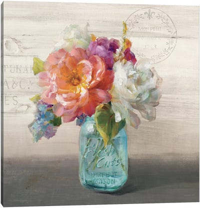 French Cottage Bouquet I Canvas Print #WAC5143