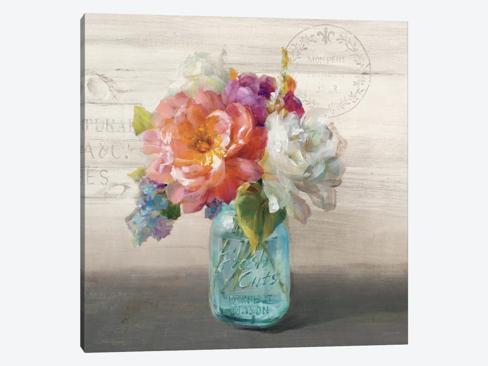 French Cottage Bouquet I by Danhui Nai 1-piece Canvas Art