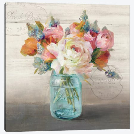 French Cottage Bouquet II Canvas Print #WAC5144} by Danhui Nai Canvas Wall Art
