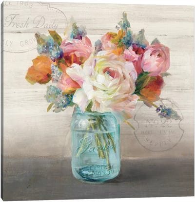 French Cottage Bouquet II Canvas Art Print