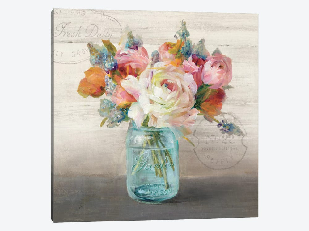 French Cottage Bouquet II by Danhui Nai 1-piece Canvas Art Print