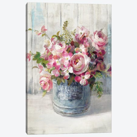 Garden Blooms I Canvas Print #WAC5145} by Danhui Nai Canvas Art